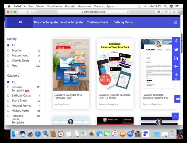 WonderShare PDFelement 6 Pro - Tienda de plantillas