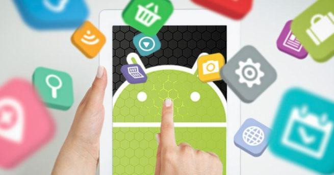 Imagen que muestra diferentes aplicaciones para android
