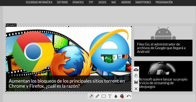Imagen que muestra cómo se realizan capturas de pantalla con Floomber