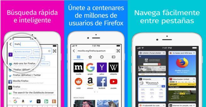 Imagen con las principales novedades de Mozilla Firefox 10 para iOS