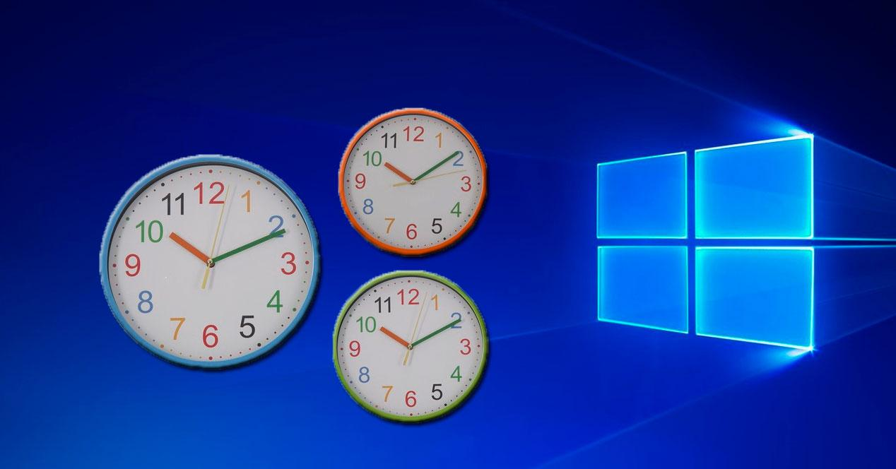 reloj en windows 10