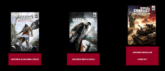 Assassins Creed Black Flag Watch Dogs World in Conflict Gratis uPlay