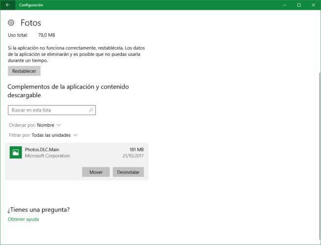 Desinstalar DLC Apps Microsoft Store