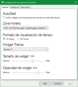 Sense Desktop - Configuración 1