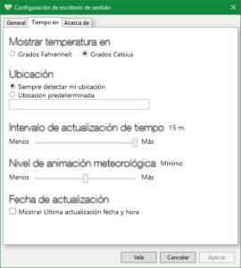Sense Desktop - Configuración 2