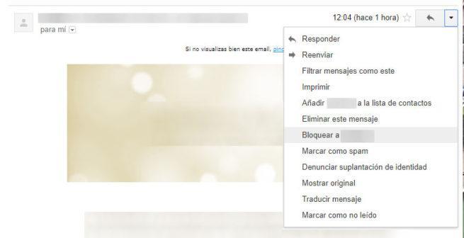 bloquear correo