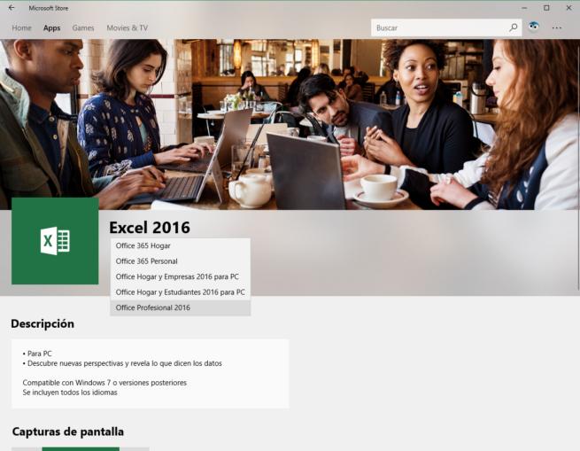 Descargar Excel Microsoft Store