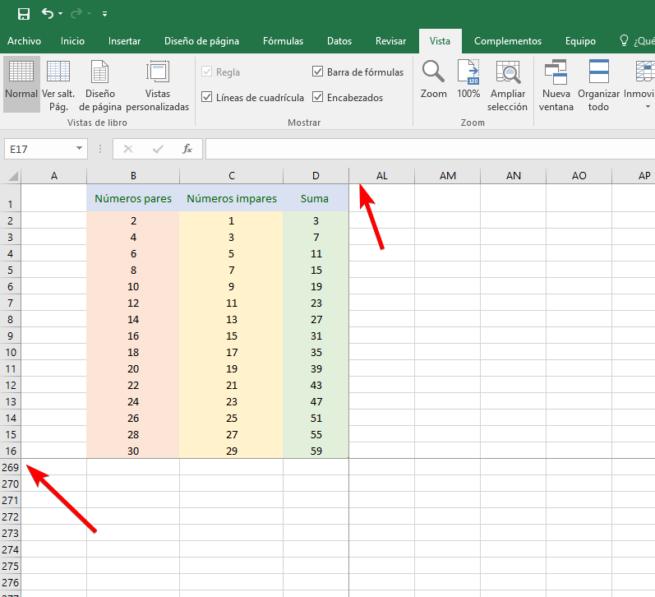 Excel 2016 - Bloquear tabla