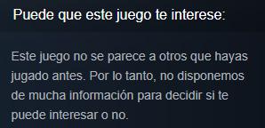 Juego no recomendado Steam