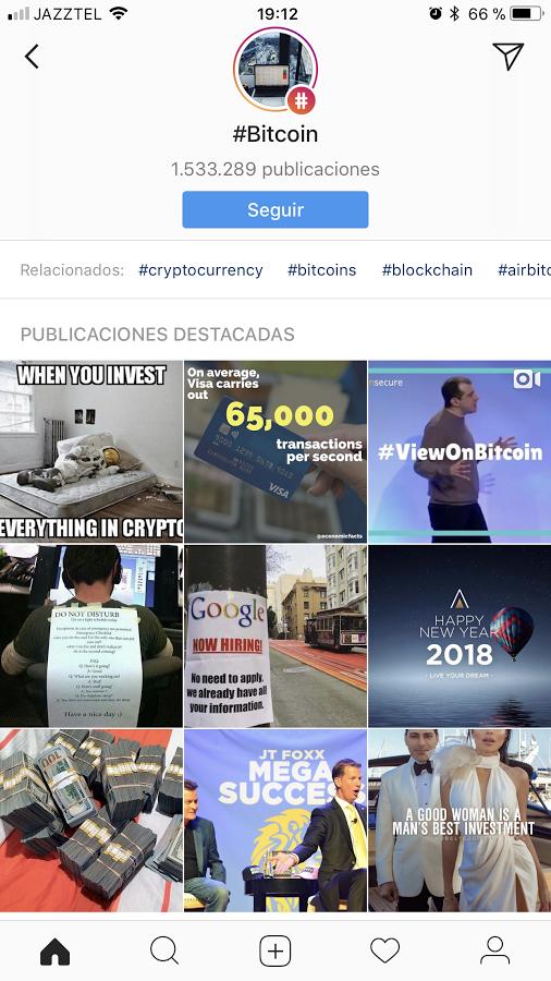Seguir Hashtag Instagram