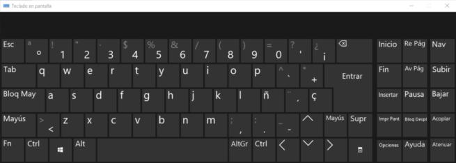 Teclado pantalla Windows 10