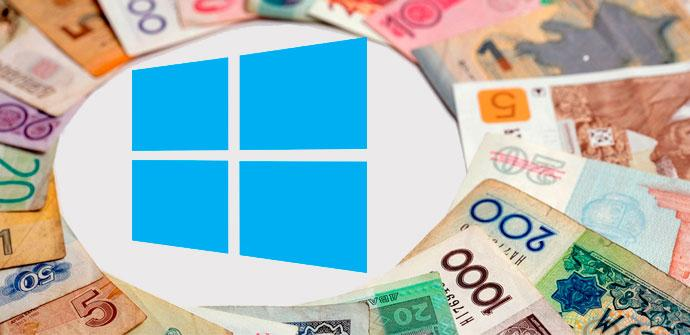 convertir monedas en windows 10