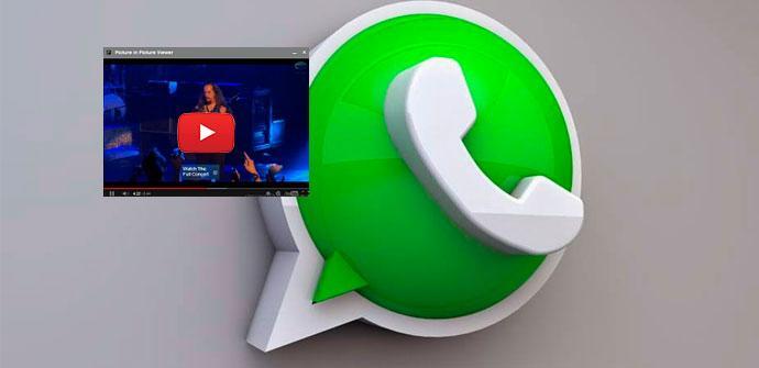 Ver noticia 'Ya se pueden ver vídeos de YouTube en WhatsApp sin salir del chat'