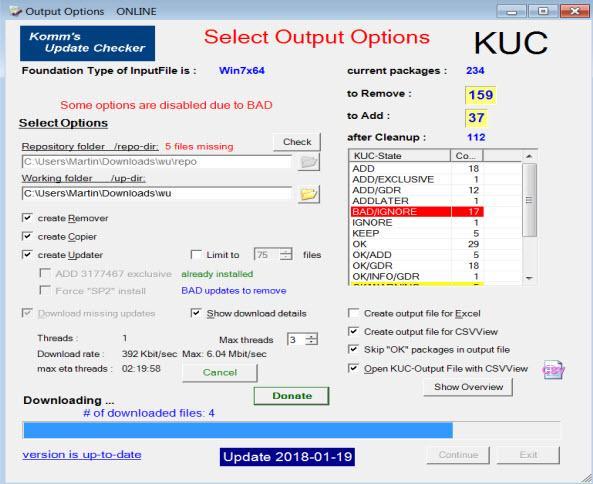 KUC Windows Update Checker