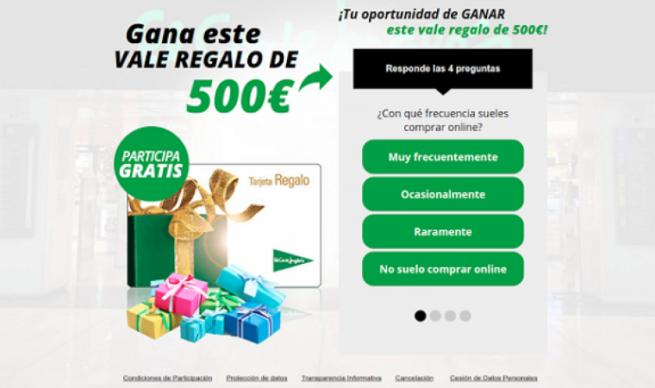 500 euros corte ingles
