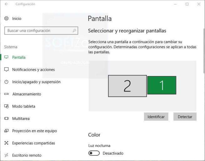Configuración pantalla Windows 10 clásico