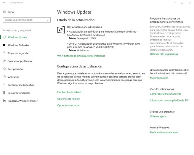 KB4058258 - Actualización acumulativa Windows 10