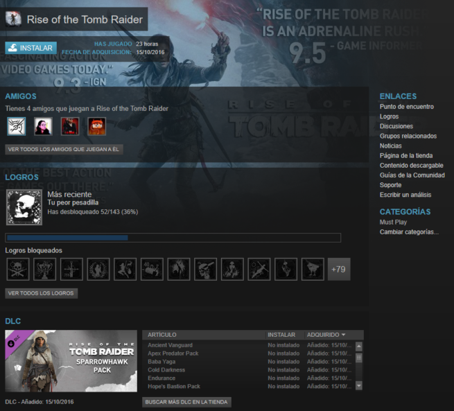 Rise of the Tomb Raider Steam