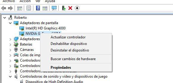 pantalla del ordenador en negro