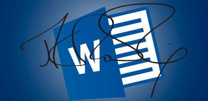 firma digital en word