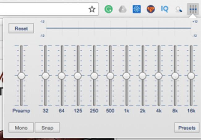 ecualizador para el navegador