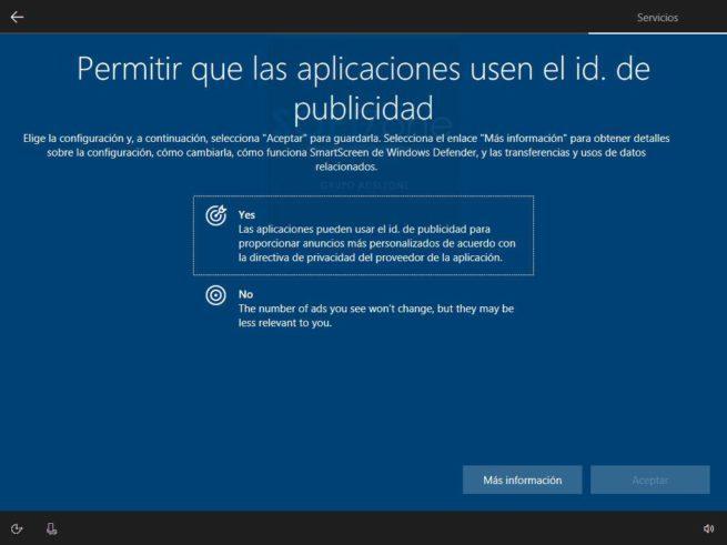 Asistente de configuración inicial Windows 10 Spring Creators Update