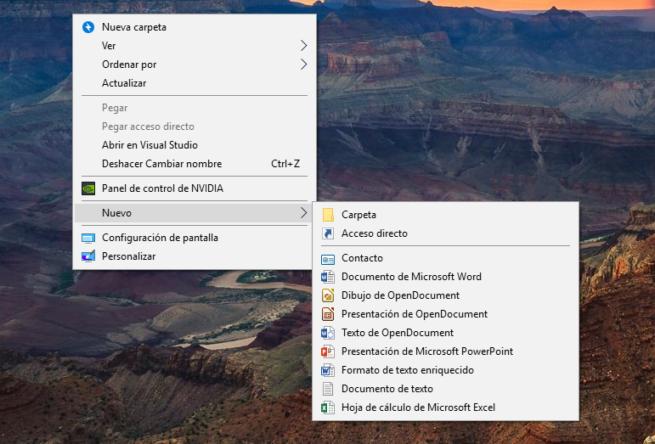 Clic Derecho Windows 10