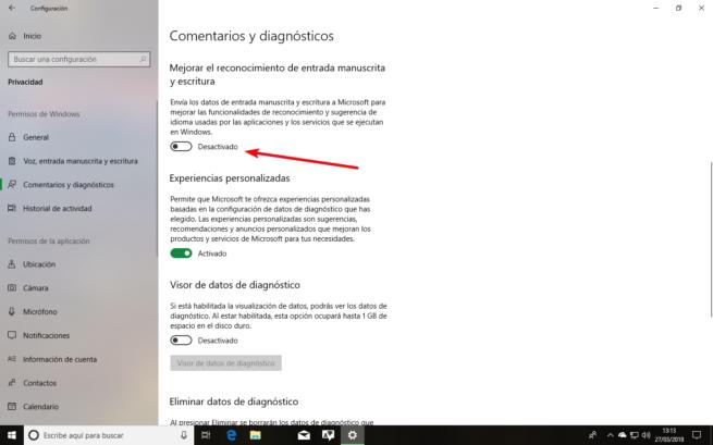 Desactivar keylogger windows 10 spring creators update 1