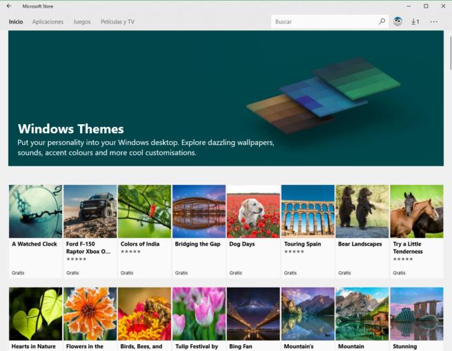 Microsoft Store Windows 10 - Temas
