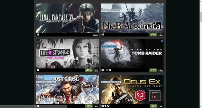Rebajas Juegos Square Enix en Steam marzo 2018