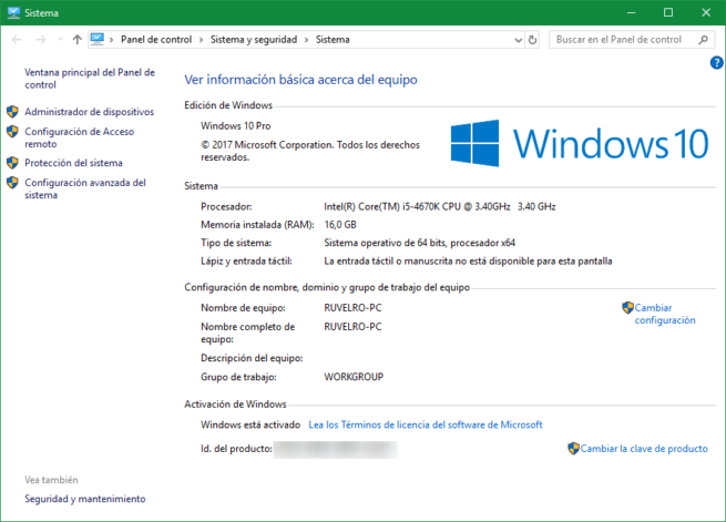 Resumen hardware Windows