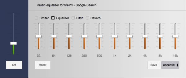 ecualizadores para el navegador