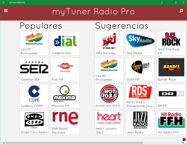 myTuner Radio Windows 10