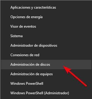 Abrir administrador de discos Windows 10