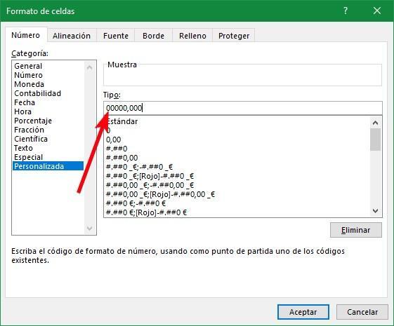 Cambiar formato de celdas en Excel
