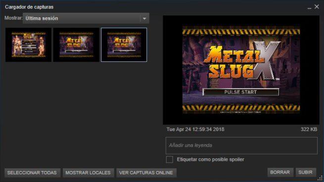 Capturas de pantalla Steam