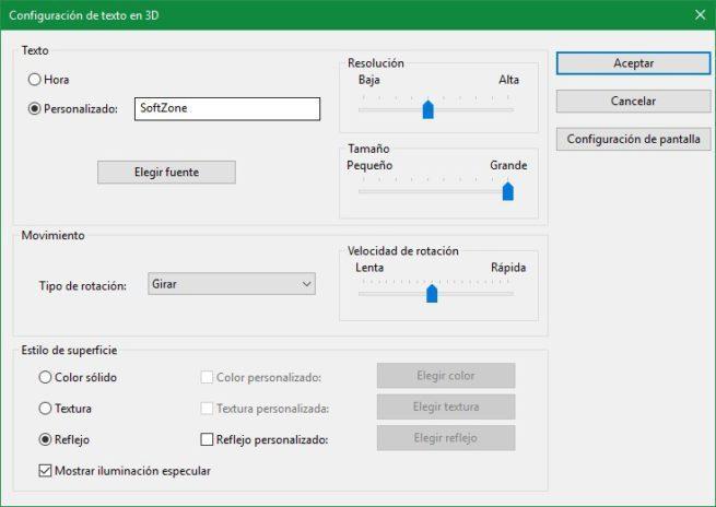 Configurar protector de pantalla Windows 10
