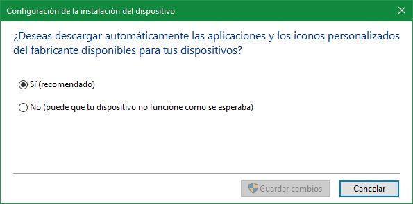 Desactivar actualizaciones automáticas de drivers en Windows 10