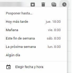 Posponer correos nuevo Gmail