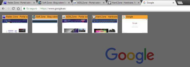 Tab Thumbnails Google Chrome
