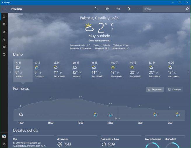 Tiempo App Windows 10