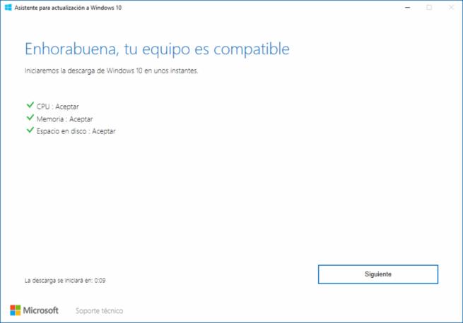 Windows 10 Spring Creators Update RTM - Asistente Actualización 2