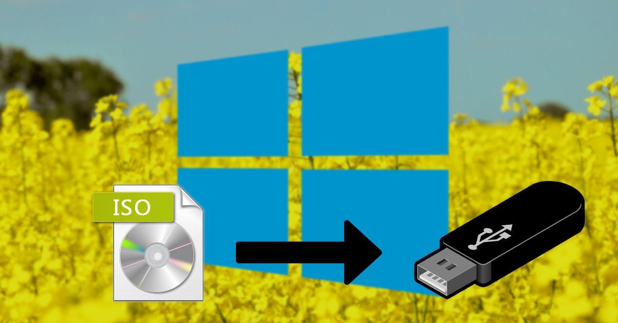 Windows 10 Spring Creators Update grabar USB