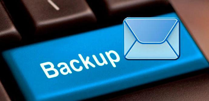 copia de seguridad de tus correos
