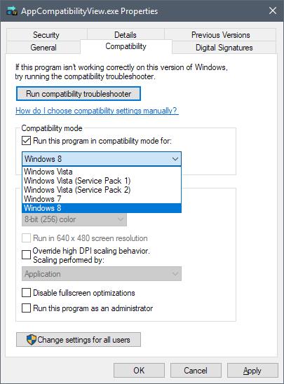 modo compatibilidad en windows 10