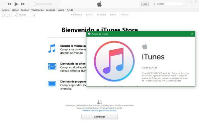 iTunes UWP