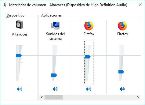 sonido en windows 10