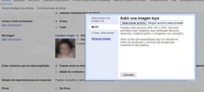 perfil de Gmail