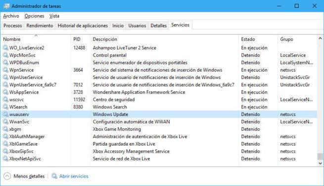 ruta de descarga de windows update