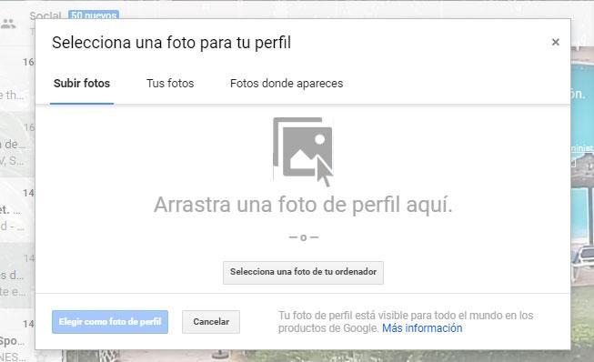 imagen de tu cuenta de Gmail